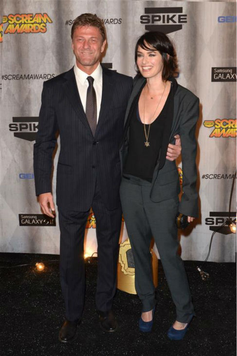 "<div class=""meta ""><span class=""caption-text "">Lena Headey (Cersei Lannister on 'Game of Thrones') appears with co-star Sean Bean (Ned Stark) at Spike TV's 2011 Scream Awards at the Universal Studios backlot in Universal City, California on Oct. 15, 2011.  (Tony DiMaio / Startraksphoto.com)</span></div>"