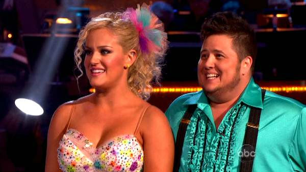 "<div class=""meta ""><span class=""caption-text "">LGBT activist Chaz Bono and his partner Lacey Schwimmer received 21 out of 30 from the judges for their  Samba on the October 17 episode of 'Dancing With The Stars.' (ABC Photo)</span></div>"