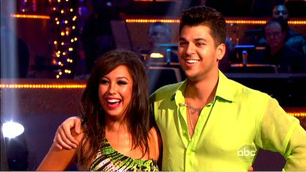 'Keeping Up With The Kardashians' star Rob Kardashian and his partner Cheryl Burke received 25 out of 30 from the judges for their Rumba on the October 17 episode of 'Dancing With The Stars.'