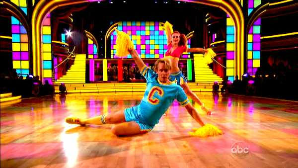 "<div class=""meta image-caption""><div class=""origin-logo origin-image ""><span></span></div><span class=""caption-text"">Television personality Carson Kressley and his partner Anna Trebunskaya received 19 out of 30 from the  judges for their Jive on the October 17 episode of 'Dancing With The Stars.' (ABC Photo)</span></div>"