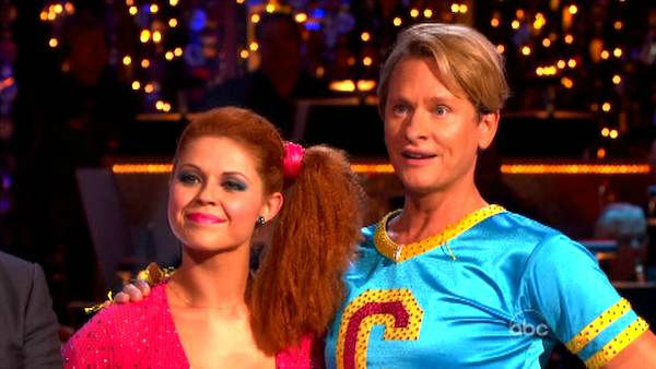 Television personality Carson Kressley and his partner Anna Trebunskaya received 19 out of 30 from the judges for their Jive on the October 17 episode of 'Dancing With The Stars.'