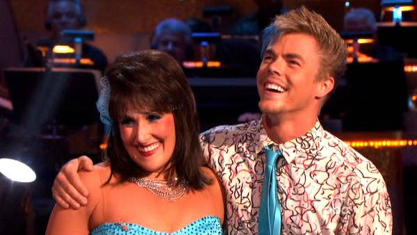 "<div class=""meta ""><span class=""caption-text "">Talk show host and actress Ricki Lake and her partner Derek Hough received 24 out of 30 from the judges  for their Fox Trot on the October 17 episode of 'Dancing With The Stars.' (ABC Photo)</span></div>"