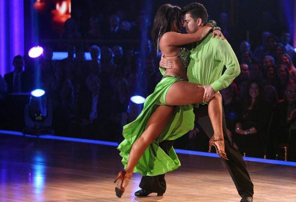 &#39;Keeping Up With The Kardashians&#39; star Rob Kardashian and his partner Cheryl Burke received 25 out of  30 from the judges for their Rumba on the October 17 episode of &#39;Dancing With The Stars.&#39; <span class=meta>(ABC Photo)</span>
