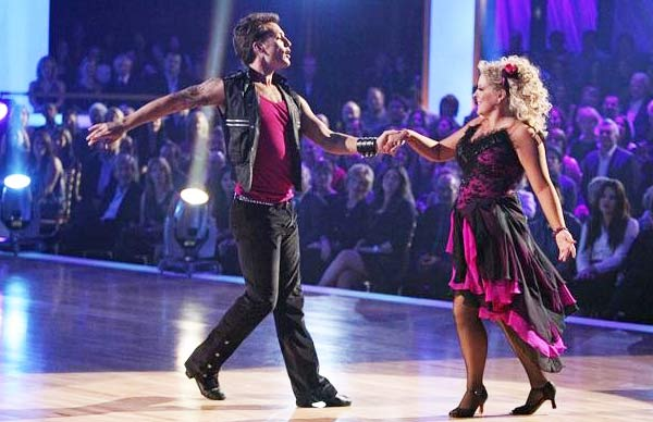 Television host Nancy Grace and her partner Tristan Macmanus received 22 out of 30 from the judges for  their Rumba on the October 17 episode of &#39;Dancing With The Stars.&#39; <span class=meta>(ABC Photo)</span>