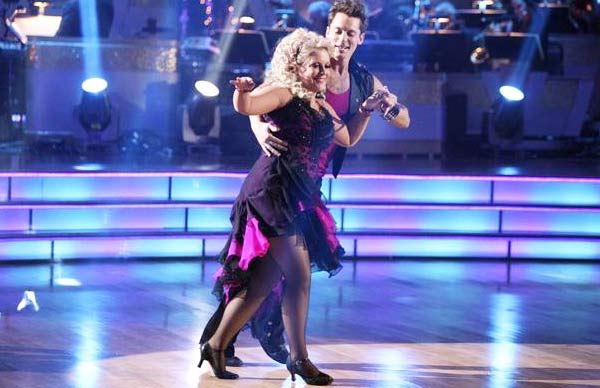 Television host Nancy Grace and her partner Tristan Macmanus received 22 out of 30 from the judges for their Rumba on the October 17 episode of 'Dancing With The Stars.'