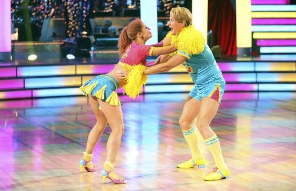 Television personality Carson Kressley and his partner Anna Trebunskaya received 19 out of 30 from the  judges for their Jive on the October 17 episode of &#39;Dancing With The Stars.&#39; <span class=meta>(ABC Photo)</span>