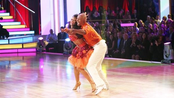 "<div class=""meta image-caption""><div class=""origin-logo origin-image ""><span></span></div><span class=""caption-text"">'All My Children' actor and Iraq War veteran J.R. Martinez and his partner Karina Smirnoff received 28 out  of 30 from the judges for their Samba on the October 17 episode 'Dancing With The Stars.' (ABC Photo)</span></div>"