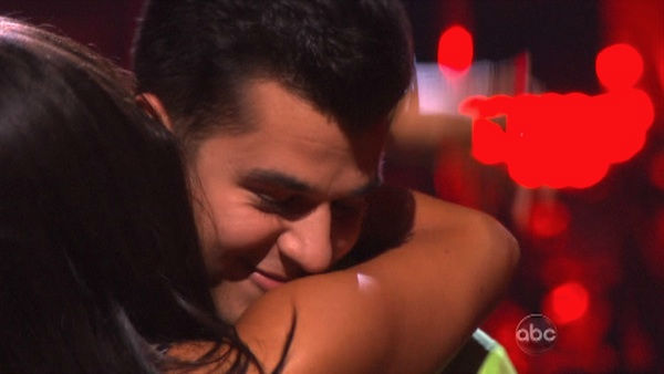 "<div class=""meta ""><span class=""caption-text "">'Keeping Up With The Kardashians' star Rob Kardashian and his partner Cheryl Burke react to being safe from elimination on 'Dancing With The Stars: The Results Show' on Tuesday, October 18, 2011. The pair received 25 out of 30 from the judges for their Rumba on the October 17 episode 'Dancing With The Stars.' (OTRC Photo)</span></div>"