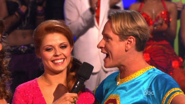 Television personality Carson Kressley and his partner Anna Trebunskaya react to being eliminated on &#39;Dancing With The Stars: The Results Show&#39; on Tuesday, October 18, 2011. The pair received 19 out of 30 from the judges for their Jive on the October 17 episode of &#39;Dancing With The Stars.&#39; <span class=meta>(OTRC Photo)</span>
