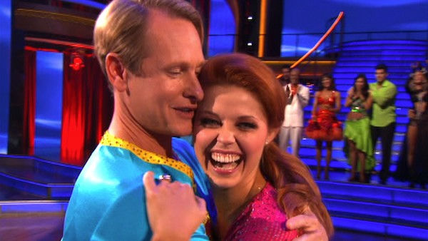"<div class=""meta image-caption""><div class=""origin-logo origin-image ""><span></span></div><span class=""caption-text"">Television personality Carson Kressley and his partner Anna Trebunskaya react to being eliminated on 'Dancing With The Stars: The Results Show' on Tuesday, October 18, 2011. The pair received 19 out of 30 from the judges for their Jive on the October 17 episode of 'Dancing With The Stars.' (OTRC Photo)</span></div>"