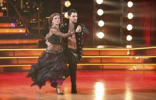 "<div class=""meta ""><span class=""caption-text "">U.S. soccer star Hope Solo and her partner Maksim Chmerkovskiy received 24 out of 30 from the judges for  their Tango on the October 17 episode of 'Dancing With The Stars.' (ABC Photo)</span></div>"