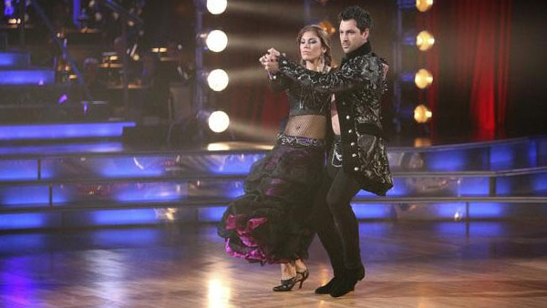 U.S. soccer star Hope Solo and her partner Maksim Chmerkovskiy received 24 out of 30 from the judges for their Tango on the October 17 episode of 'Dancing With The Stars.'