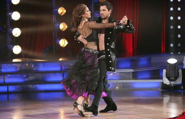 U.S. soccer star Hope Solo and her partner Maksim Chmerkovskiy received 24 out of 30 from the judges for their Tango on the