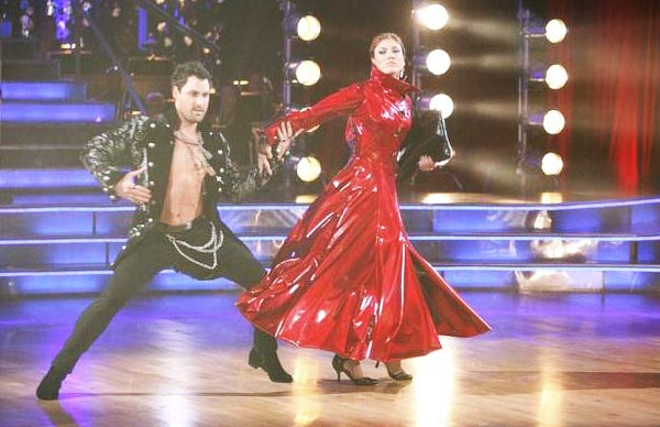 "<div class=""meta image-caption""><div class=""origin-logo origin-image ""><span></span></div><span class=""caption-text"">U.S. soccer star Hope Solo and her partner Maksim Chmerkovskiy received 24 out of 30 from the judges for  their Tango on the October 17 episode of 'Dancing With The Stars.' (ABC Photo)</span></div>"