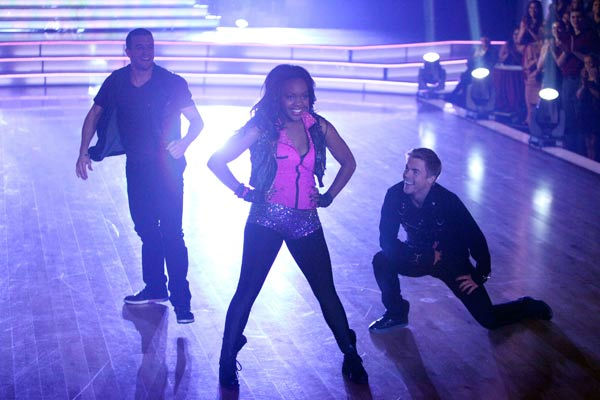 This week also featured an &#39;AT&#38;T Spotlight Performance&#39; on Tuesday, Oct. 18, 2011 with this week&#39;s spotlight on Charm Ladonna. She performed with &#39;Dancing With The Stars&#39; pros Mark Ballas and Derek Hough. <span class=meta>(ABC Photo&#47; Adam Taylor)</span>