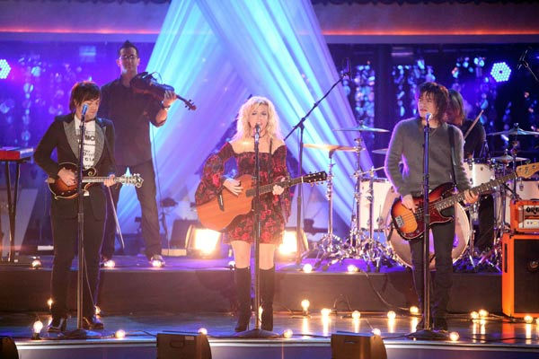 The Band Perry performed live on 'Dancing With The Stars' on Tuesday, Oct. 18, 2011. The group sang their triple-platinum hit 'If I die Young.' Their performance was accompanied with pros Louis Van Amstel and Karina Smirnoff.