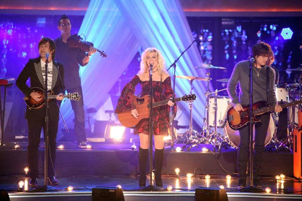 The Band Perry performed live on &#39;Dancing With The Stars&#39; on Tuesday, Oct. 18, 2011. The group sang their triple-platinum hit &#39;If I die Young.&#39; Their performance was accompanied with pros Louis Van Amstel and Karina Smirnoff.  <span class=meta>(ABC Photo&#47; Adam Taylor)</span>