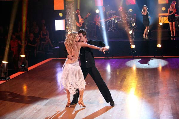 "<div class=""meta ""><span class=""caption-text "">Kelly Clarkson hit the 'Dancing With the Stars' stage on Tuesday, Oct. 18, 2011 to perform her new single, 'Mr. Know it All' off her upcoming album, 'Stronger.' (Pictured: TRISTAN MACMANUS, KYM JOHNSON) (ABC Photo/ Adam Taylor)</span></div>"