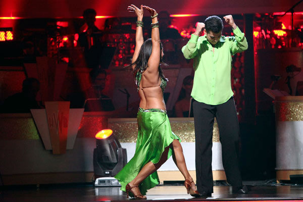 "<div class=""meta ""><span class=""caption-text "">'Keeping Up With The Kardashians' star Rob Kardashian and his partner Cheryl Burke react to being safe from elimination on 'Dancing With The Stars: The Results Show' on Tuesday, October 18, 2011. The pair received 25 out of 30 from the judges for their Rumba on the October 17 episode 'Dancing With The Stars.' (ABC Photo/ Adam Taylor)</span></div>"