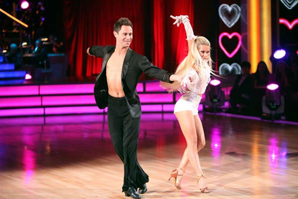 d with a Troupe dancers performed with a choir, on &#39;Dancing with the Stars the Results Show,&#39; Tuesday, Oct. 18, 2011. &#40;Pictured: SASHA FARBER and  OKSANA DMYTRENKO&#41; <span class=meta>(ABC Photo&#47; Adam Taylor)</span>