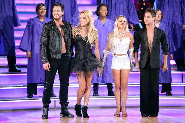"<div class=""meta ""><span class=""caption-text "">d with a Troupe dancers performed with a choir, on 'Dancing with the Stars the Results Show,' Tuesday, Oct. 18, 2011. (VAL CHMERKOVSKIY, PETA MURGATROYD, OKSANA DMYTRENKO and SASHA FARBER.) (ABC Photo/ Adam Taylor)</span></div>"