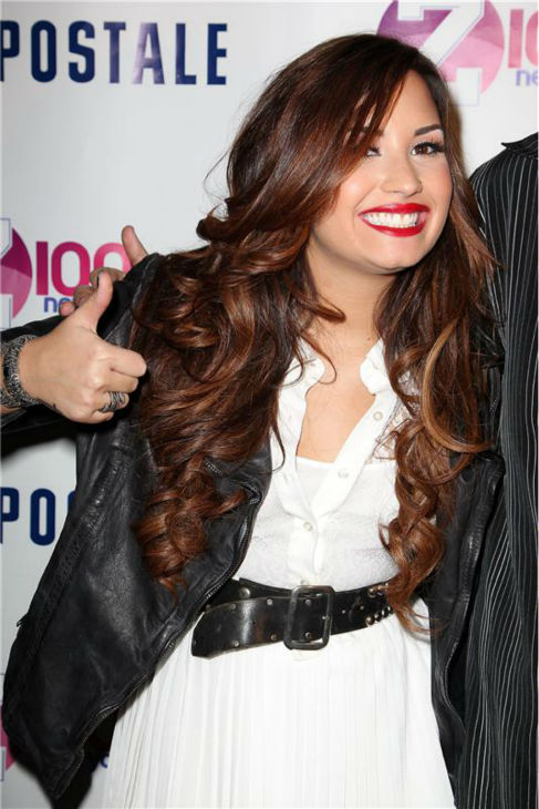 Demi Lovato appears at Z100&#39;s Jingle Ball 2011 kick-off party, presented by Aeropostale, in New York on Oct. 21, 2011. <span class=meta>(Amanda Schwab &#47; Startraksphoto.com)</span>