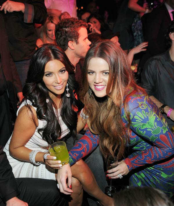 Kim Kardashian, Kris Humphries and Khloe Kardashian celebrate Kim Kardashian&#39;s birthday at Marquee Nightclub at the Cosmopolitan in CityCenter on October 22, 2011 in Las Vegas, Nevada.  <span class=meta>(Photo&#47;Denise Truscello)</span>