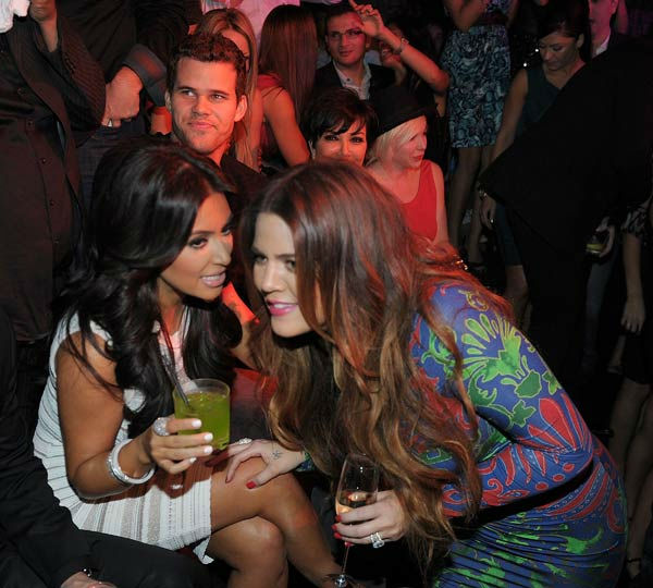 Kim Kardashian, Kris Humphries Khloe Kardashian and Kris Jenner celebrate Kim Kardashian&#39;s birthday at Marquee Nightclub at the Cosmopolitan in CityCenter on October 22, 2011 in Las Vegas, Nevada.   <span class=meta>(Photo&#47;Denise Truscello)</span>
