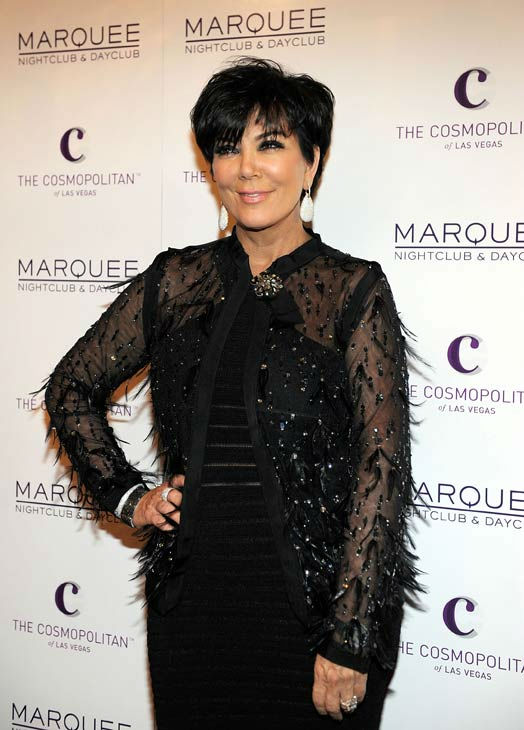 Kris Jenner arrives at her birthday at Marquee...