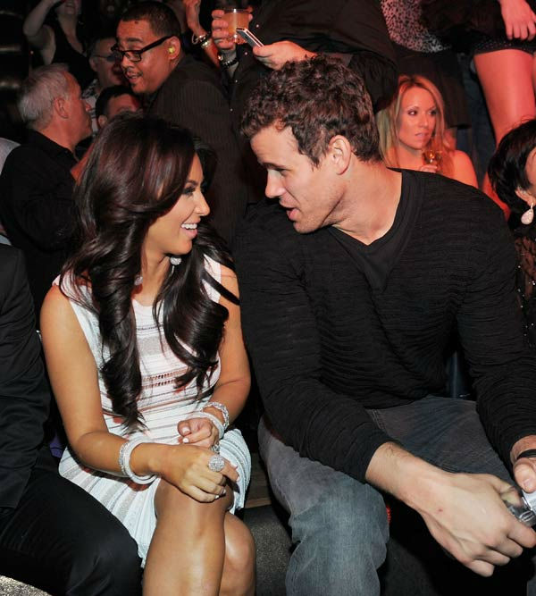 Kim Kardashian and Kris Humphries celebrate Kim...