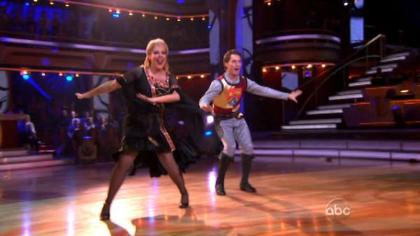 "<div class=""meta image-caption""><div class=""origin-logo origin-image ""><span></span></div><span class=""caption-text"">Television host Nancy Grace and her partner Tristan Macmanus received 24 out of 30 from the judges for  their Fox Trot on the October 24 episode of 'Dancing With The Stars.' (ABC Photo)</span></div>"