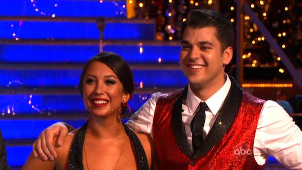 'Keeping Up With The Kardashians' star Rob Kardashian and his partner Cheryl Burke received 22 out of 30 from the judges for their Cha Cha on the October 24 episode of 'Dancing With The Stars.'