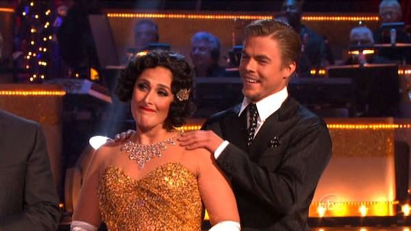 "<div class=""meta ""><span class=""caption-text "">Talk show host and actress Ricki Lake and her partner Derek Hough received 29 out of 30 from the judges  for their Quickstep on the October 24 episode of 'Dancing With The Stars.' (ABC Photo)</span></div>"