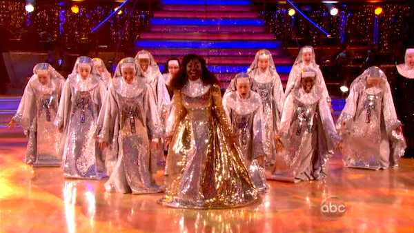 The cast of Broadway&#39;s production of &#39;Sister Act&#39; performs on the October 24 episode &#39;Dancing With The  Stars.&#39; <span class=meta>(ABC Photo)</span>