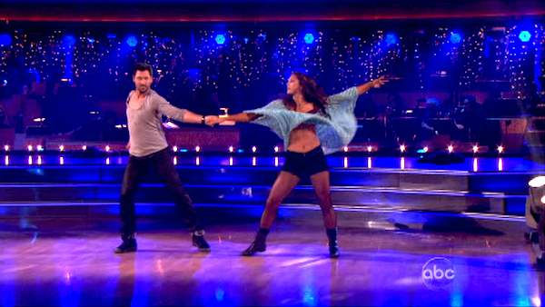 "<div class=""meta ""><span class=""caption-text "">U.S. soccer star Hope Solo and her partner Maksim Chmerkovskiy received 20 out of 30 from the judges for  their Rumba on the October 24 episode of 'Dancing With The Stars.' (ABC Photo)</span></div>"