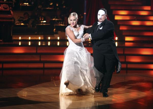 "<div class=""meta ""><span class=""caption-text "">LGBT activist Chaz Bono and his partner Lacey Schwimmer received 19 out of 30 from the judges for their  Tango on the October 24 episode of 'Dancing With The Stars.' (ABC Photo)</span></div>"