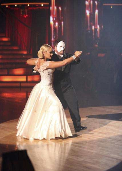 LGBT activist Chaz Bono and his partner Lacey Schwimmer received 19 out of 30 from the judges for their Tango on the October 24 episode of 'Dancing With The Stars.'