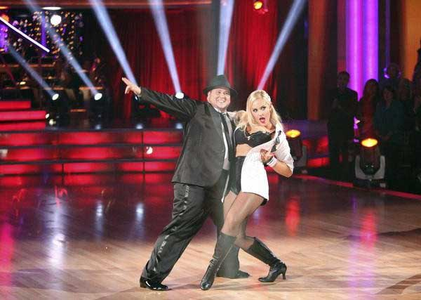 "<div class=""meta image-caption""><div class=""origin-logo origin-image ""><span></span></div><span class=""caption-text"">LGBT activist Chaz Bono and his partner Lacey Schwimmer received 19 out of 30 from the judges for their  Tango on the October 24 episode of 'Dancing With The Stars.' (ABC Photo)</span></div>"