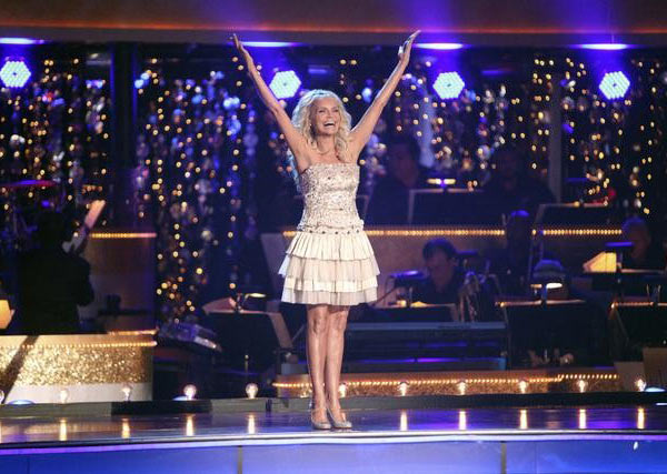 Kristin Chenoweth performs 'Maybe This Time' from Cabaret and 'I Could Have Danced All Night' from 'The King and I' on the October 24 episode 'Dancing With The Stars.'