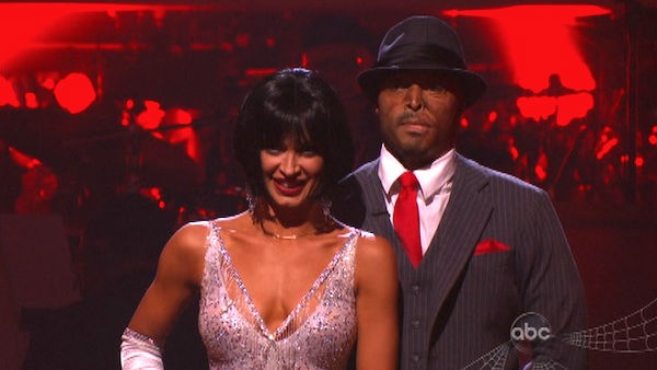 &#39;All My Children&#39; actor and Iraq War veteran J.R. Martinez and his partner Karina Smirnoff await possible elimination on &#39;Dancing With The Stars: The Results Show&#39; on Tuesday, October 25, 2011. The pair received 29 out of 30 from the judges for their Quickstep on the October 24 episode &#39;Dancing With The Stars.&#39; <span class=meta>(OTRC Photo)</span>