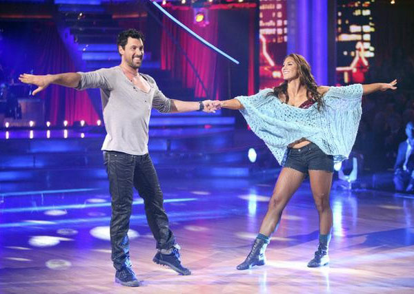 U.S. soccer star Hope Solo and her partner Maksim Chmerkovskiy received 20 out of 30 from the judges for  their Rumba on the October 24 episode of &#39;Dancing With The Stars.&#39; <span class=meta>(ABC Photo)</span>