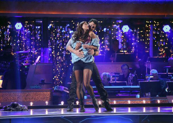 "<div class=""meta image-caption""><div class=""origin-logo origin-image ""><span></span></div><span class=""caption-text"">U.S. soccer star Hope Solo and her partner Maksim Chmerkovskiy received 20 out of 30 from the judges for  their Rumba on the October 24 episode of 'Dancing With The Stars.' (ABC Photo)</span></div>"