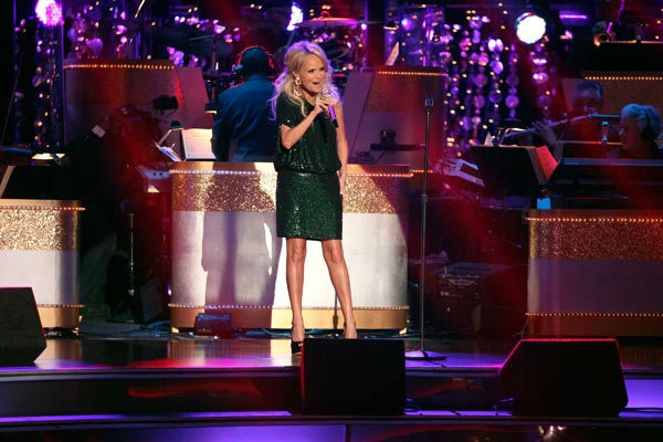 Kristin Chenoweth returned to the &#39;Dancing With The Stars&#39; stage on Tuesday, October 25, to perform &#39;Lessons Learned&#39; from her new album, &#39;Some Lessons Learned.&#39; The Broadway veteran was accompanied by pro dancers Tony Dovolani and Dasha Chesnokova.  <span class=meta>(ABC Photo&#47; Adam Taylor)</span>