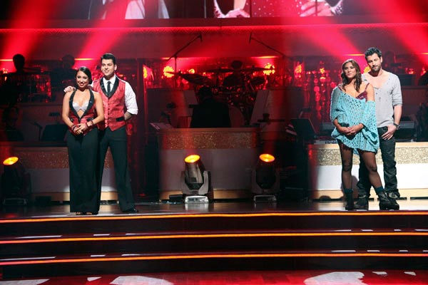"<div class=""meta image-caption""><div class=""origin-logo origin-image ""><span></span></div><span class=""caption-text"">'Keeping Up With The Kardashians' star Rob Kardashian and his partner Cheryl Burke await possible elimination on 'Dancing With The Stars: The Results Show' on Tuesday, October 25, 2011. The pair received 22 out of 30 from the judges for their Cha Cha on the October 24 episode of 'Dancing With The Stars.' (ABC Photo/ Adam Taylor)</span></div>"