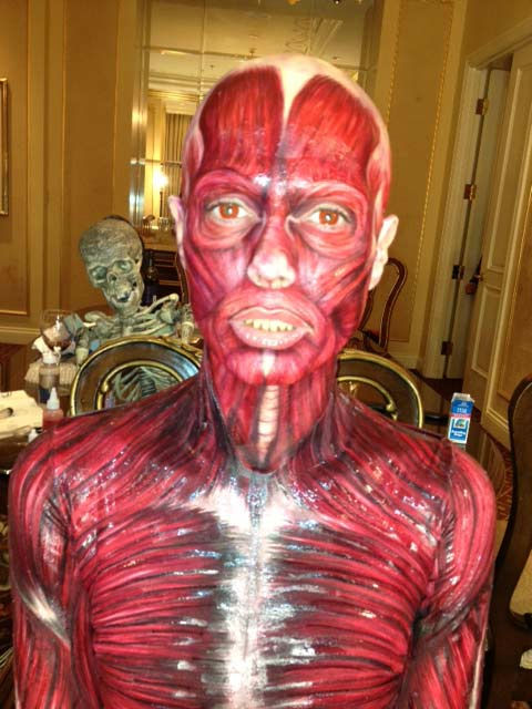 &#39;All done,&#39; Heidi Klum wrote on her Twitter page on Saturday, October 29, 2011. The photo showes off her &#39;Visible Woman&#39; costume.  <span class=meta>(Twitter.com&#47;HeidiKlum)</span>