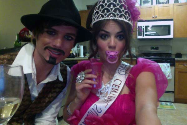 'Pretty Little Liars' star Lucy Hale dressed up as a constant from 'Toddlers and Tiaras,' <a