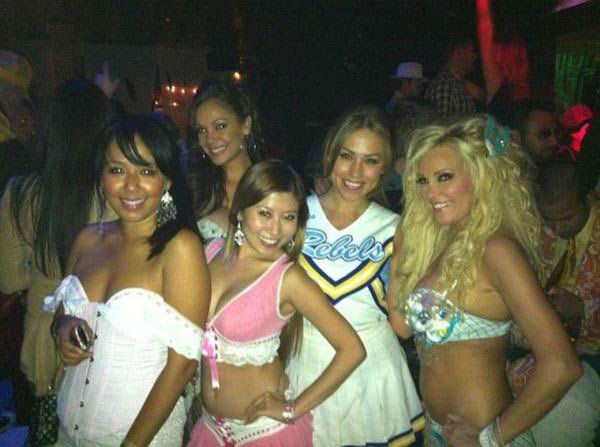 "<div class=""meta ""><span class=""caption-text "">Former 'Girls Next Door' star Bridget Marquardt posted a photo on October 29 of her with her friends Jessica Hall, Bambi Lashell and Loreen Hwang at the Colony Nightclub in Hollywood, Calif. the previous night. (Twitter.com/Bridget)</span></div>"