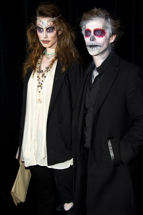 Model Elettra Wiedemann and guest attend Bette Midler&#39;s Hulaween gala benefit for the New York Restoration Project, in New York, Friday, Oct. 28, 2011.  <span class=meta>(AP Photo&#47;Charles Sykes)</span>