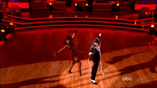 "<div class=""meta image-caption""><div class=""origin-logo origin-image ""><span></span></div><span class=""caption-text"">Actor David Arquette and his partner Kym Johnson received 24 out of 30 from the judges for their Cha Cha on the October 31 episode of 'Dancing With The Stars.' (ABC Photo)</span></div>"