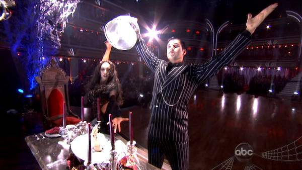 "<div class=""meta image-caption""><div class=""origin-logo origin-image ""><span></span></div><span class=""caption-text"">'Keeping Up With The Kardashians' star Rob Kardashian and his partner Cheryl Burke received 25 out of 30 from the judges for their Tango on the October 31 episode of 'Dancing With The Stars.' (ABC Photo)</span></div>"